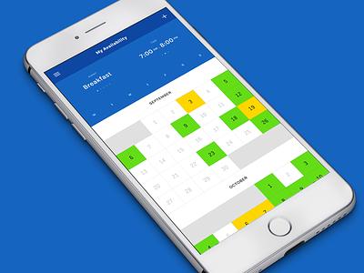 My Availability - 001 breakfast mobile app ios schedule calendar