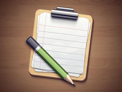 Clipboard Icon icon pencil clipboard wood
