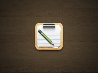 Clipboard iOS ios clipboard wood pencil metal paper