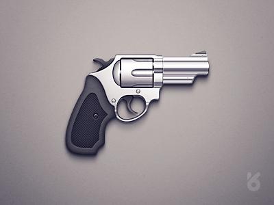 Gun Icon icon gun pistol revolver metal chrome