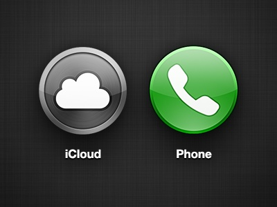 Circle iOS Icons phone icloud icons ios