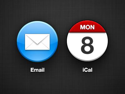 Circle iOS Icons email ical calendar icons ios