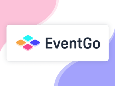 EventGo - logo creator figma wave abstract minimal pastel colors pastel candy logo go event