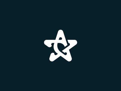 Ad astra for sale unique minimal interlocked lettermark letter a astra stars star