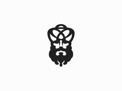 Emperor brand creative modern face character portrait logo coffee strong beard turban sultan emperor