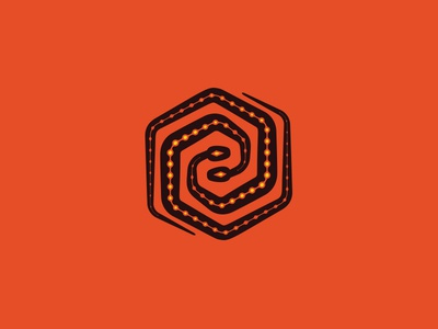 United snakes geometric design animal illustration minimal simple colorful hexagon snakes logo