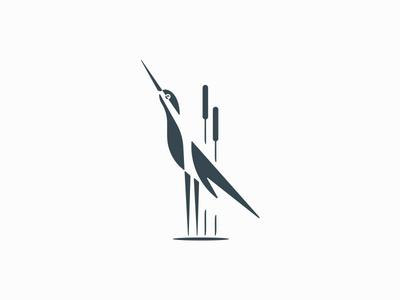 Crane bird vector negative space simple illustration logo elegant minimal nature logo nature animal bird crane