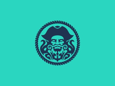 Pirate shield heraldic heraldry rum pirate captain ship ocean portrait design vector negative space character illustration logo