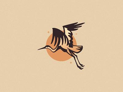 Stork nature flying stork bird animal negative space simple minimal logo
