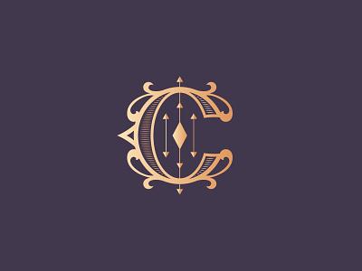 Letter C design logo vintage branding custom made typography monogram letter c letter 36daysoftype08 36daysoftype