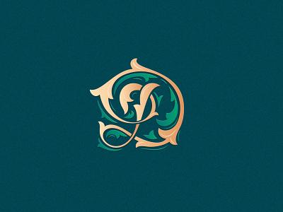 letter D branding design character logo d designchallenge customtype typography greenery floral monogram letter letter d 36daysoftype08 36days 36daysoftype