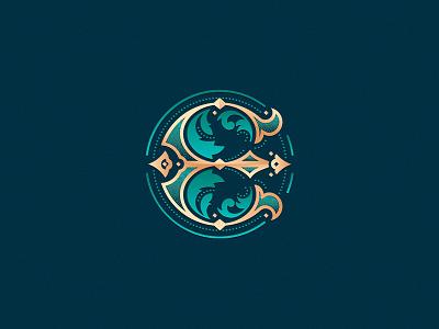 Letter E design challenge ornament custom made decorative vector design logo luxury elegant letter ornamental monogram e letter e 36daysoftype08 36daysoftype
