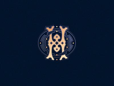 Letter  H designchallenge vector design customtype typography ornamental monogram h letter h 36daysoftype08 36daysoftype