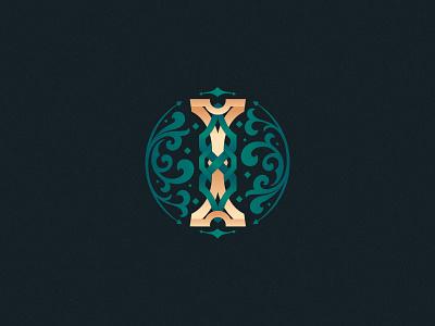 Letter I design vector design challenge customtype ornament ornamental monogram lettering i letter i 36daysoftype08 36daysoftype