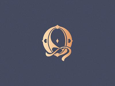 Letter Q design challenge design vector logo lettering victorian ornamental decorative monogram q letter q 36daysoftype08 36daysoftype