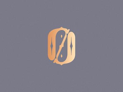 Number 0 monogram design vector illustration simple design challenge decorative ornamental logo lettering 0 zero 36daysoftype 36daysoftype08
