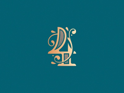 Number 4 design challenge design vector simple minimal logo lettering monogram victorian ornament decorative 4 number 4 36daysoftype08 36daysoftype