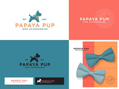Puppy logo branding animals animal character design vector logo minimal simple pet shop puppy dog