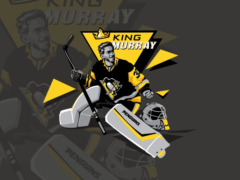 Matt Murray pittsburgh penguins pittsburgh goalie ice hockey sport character illustration