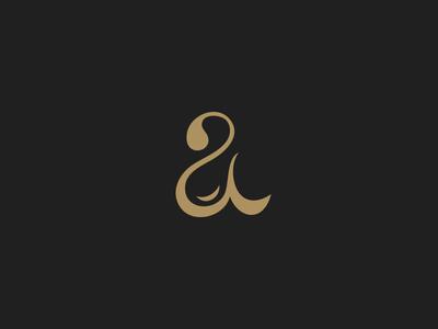 Letter a logo custom lettering oil negative space drop minimal monogram a letter