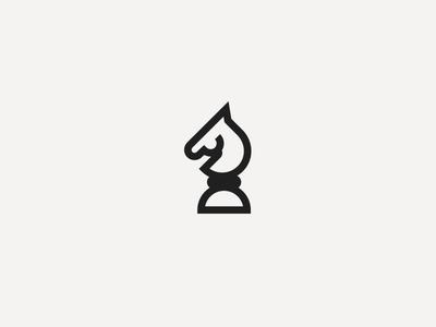 Horse geometric chess design animal simple minimal logo