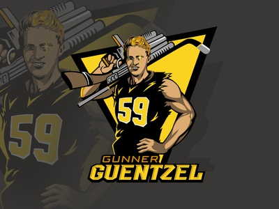 Gunner Guentzel vector character t-shirt tshirt illustration ice hockey hockey pittsburgh penguins pittsburgh