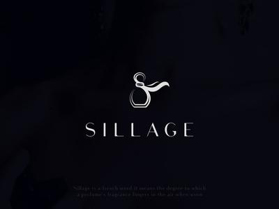 Sillage vector simple sale availabe modern elegant french custom logo sillage perfume