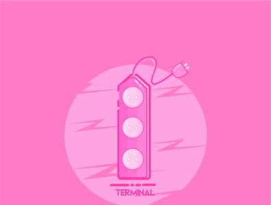 Terminal Listrik logo vector flat icon flatdesign design