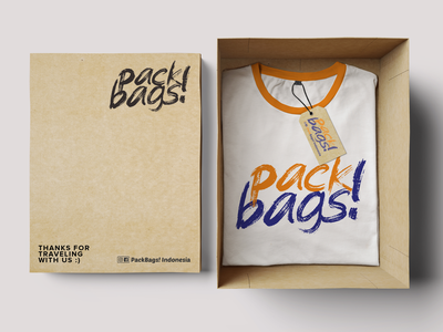 T-shirt Souvenir - PackBags! Indonesia souvenir t-shirt design branding office