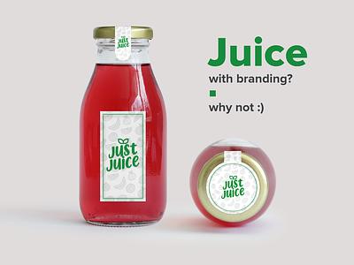 Juice, Branding - JustJuice product branding