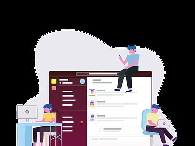 Group Chat design illustration