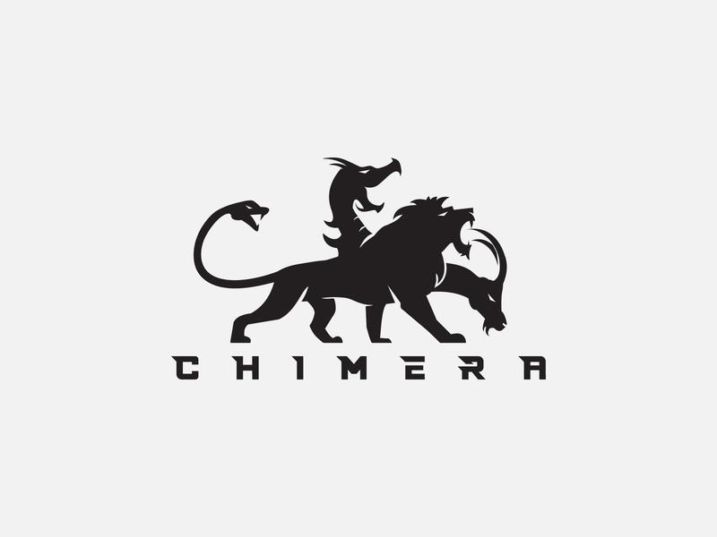Chimera Logo game branding app illustration ux ui fantasy art fantasyart fantasy snake goat dragon lion chimera vector chimera logo chimera