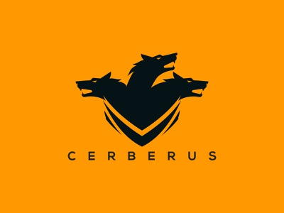 cerberus logo game app illustration ui ux wolves wolf-em wolfpack wolfman wolf logo wolf cerberus vector cerberus design cerberus logo cerberus wolf cerberus