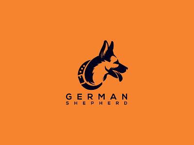 German Shepherd Logo branding logo design web strong game app illustration ui ux k9 dog k9 logo k9 german shepherd dog german sheperd german shepherd logo