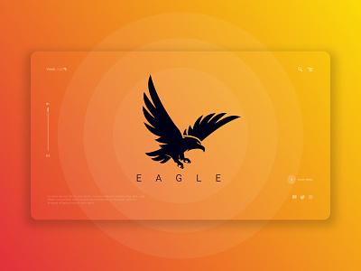 Eagle Logo branding logo design web strong game app illustration ui ux hawk logo hawk eagle design eagle vector logo eagle logo eagle