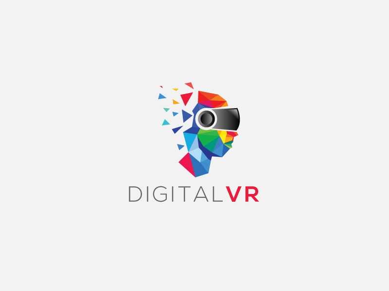 DIGITAL VR Logo technology tech vxf vr virtual reality communication illustration game mobile internet business