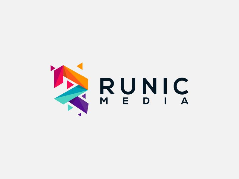 Runic Media design logo illustration game mobile internet app