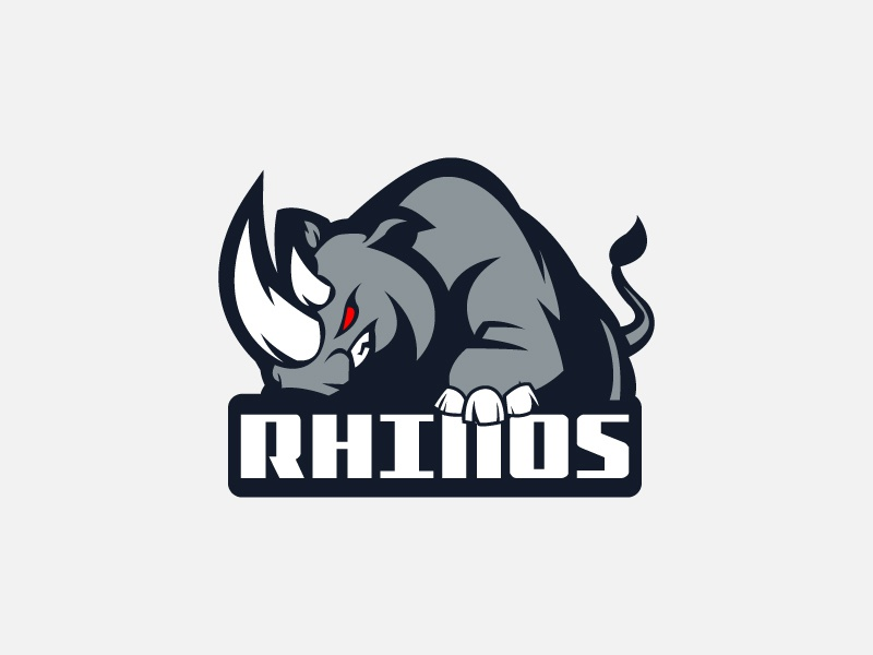 Rhinos branding vector illustration design logo game strong