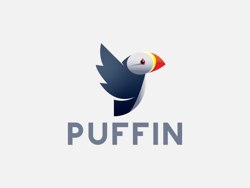 Puffin ui vector design mobile game illustration internet app