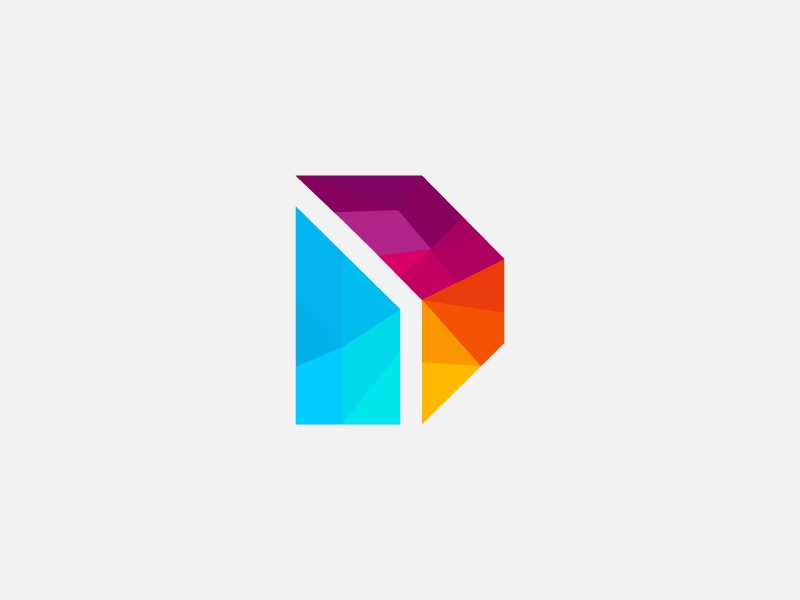 D Logo logo illustration internet strong