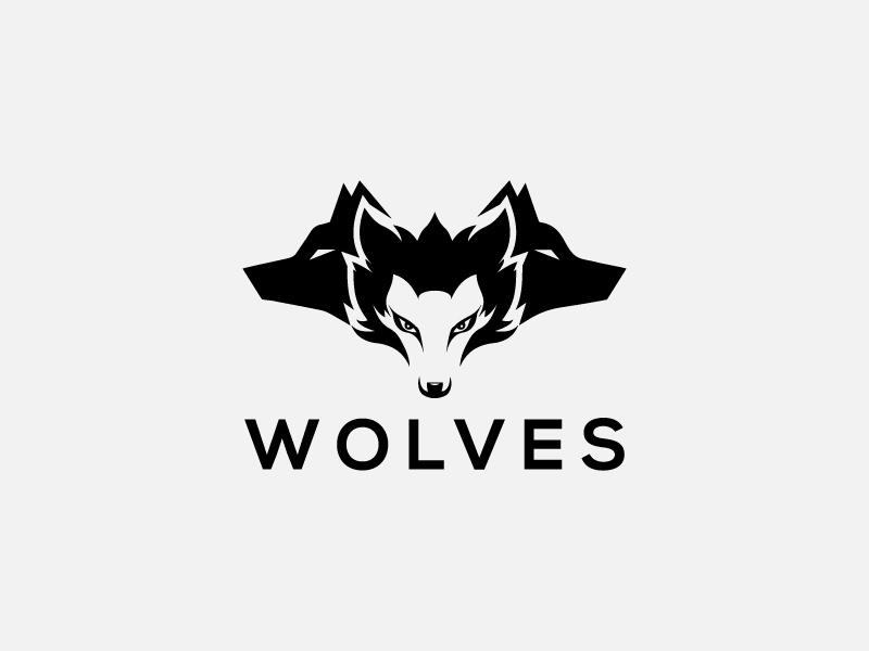 Wolves vector logo game illustration strong