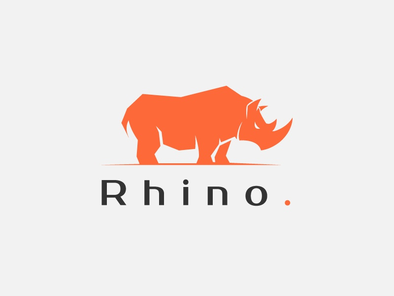 Rhino rhino design vector illustration strong