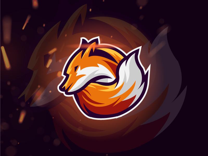 Fox Mascot Logo app design branding strong vector development logo mobile game illustration
