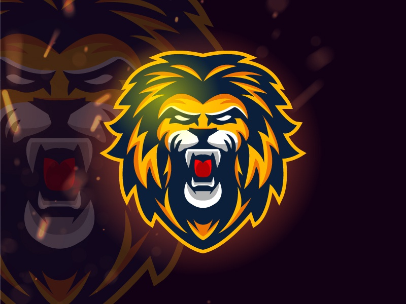 Lion Roar lion king lion head lion vector design logo game strong