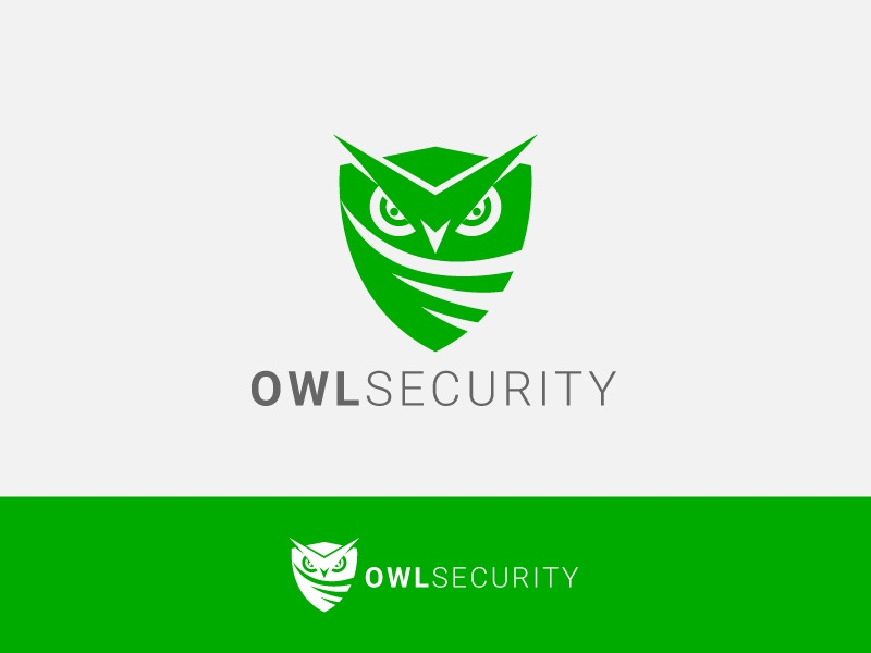 Owl Security minimal flat animation icon ux typography branding ui lion game owl logo owl illustration