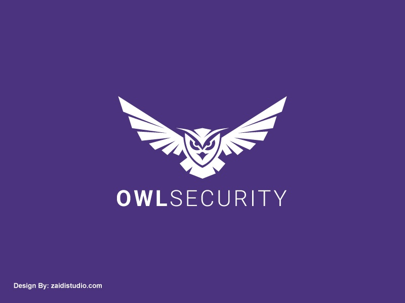 Owl Security strong branding ux ui app logo wings owl owl logo