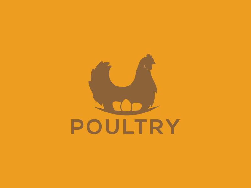 Poultry ux ui vector app logo eggs hen poultry