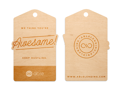 We think you're awesome. apparel tag wood cut awesome
