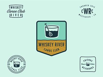 Whiskey River Canoe Club neighbors friends family gentlemen drinking whiskey