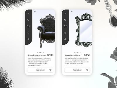 Daily UI #012    E-Commerce Shop application app design uidesign ui mobile app e-commerce app commerce